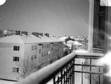 Gamla stan, kv Hasseln, Vegagatan, kvällsbild 1940