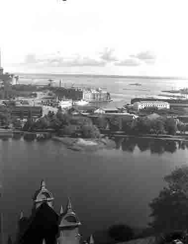 Utsikt från slottet Ångkvarn Margarinfabriken Tjärhovet