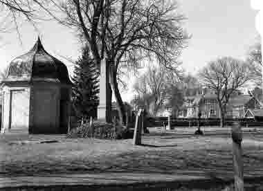 Gamla kyrkogården med Stagnelius gravkor, 1939