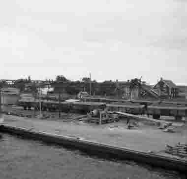 Betlastning i Bergkvara oktober 1954