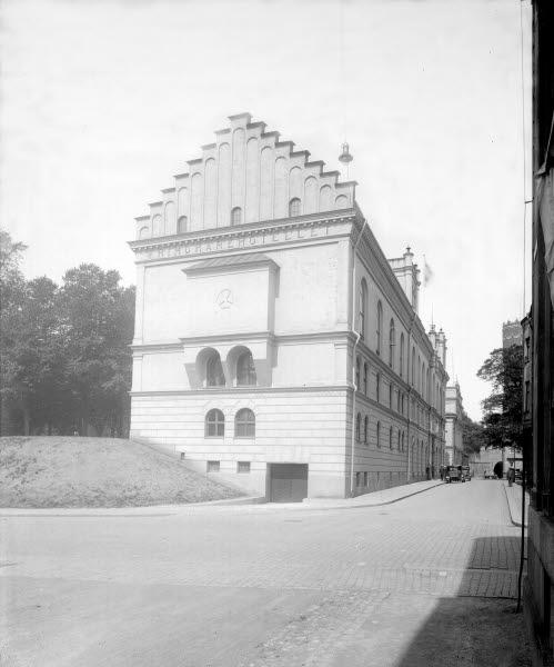 Frimurarehotellet på Västra Vallgatan från Södra Långgatan