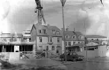 Ölandsgatan. Hotell Witt byggs 1972