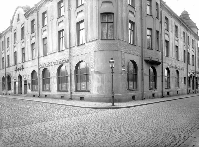 Smålands Enskilda bank, Larmtorget, Västra Vallgatan, Eos