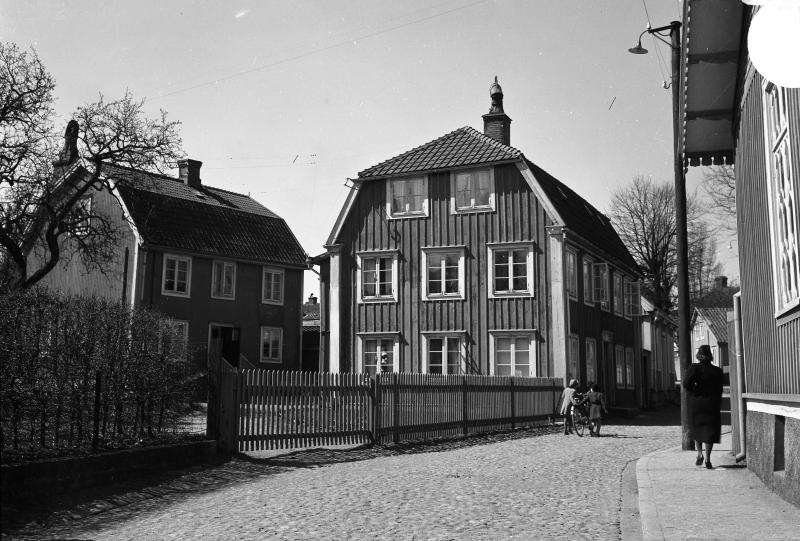 Västerlånggatan från Slottsvägen 1939