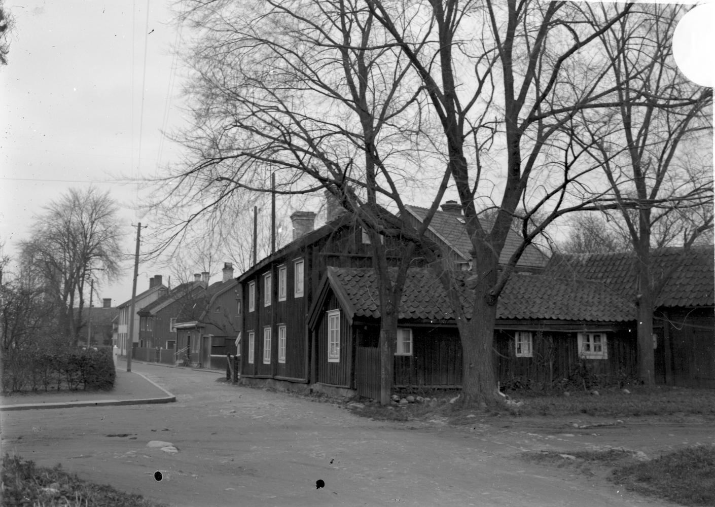 Gamla stan, tomten 139, från Vegagatan mot Västerlånggatan 1935