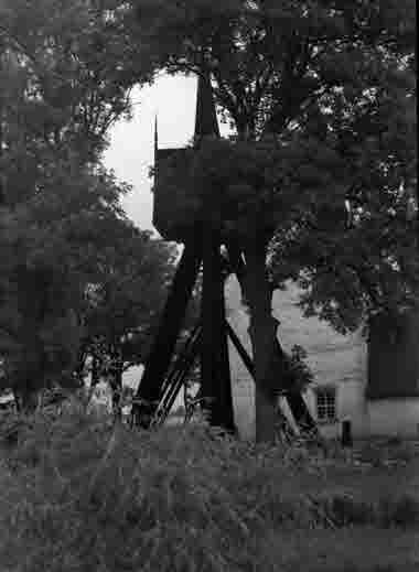 Hossmo kyrka klockstapeln 1936