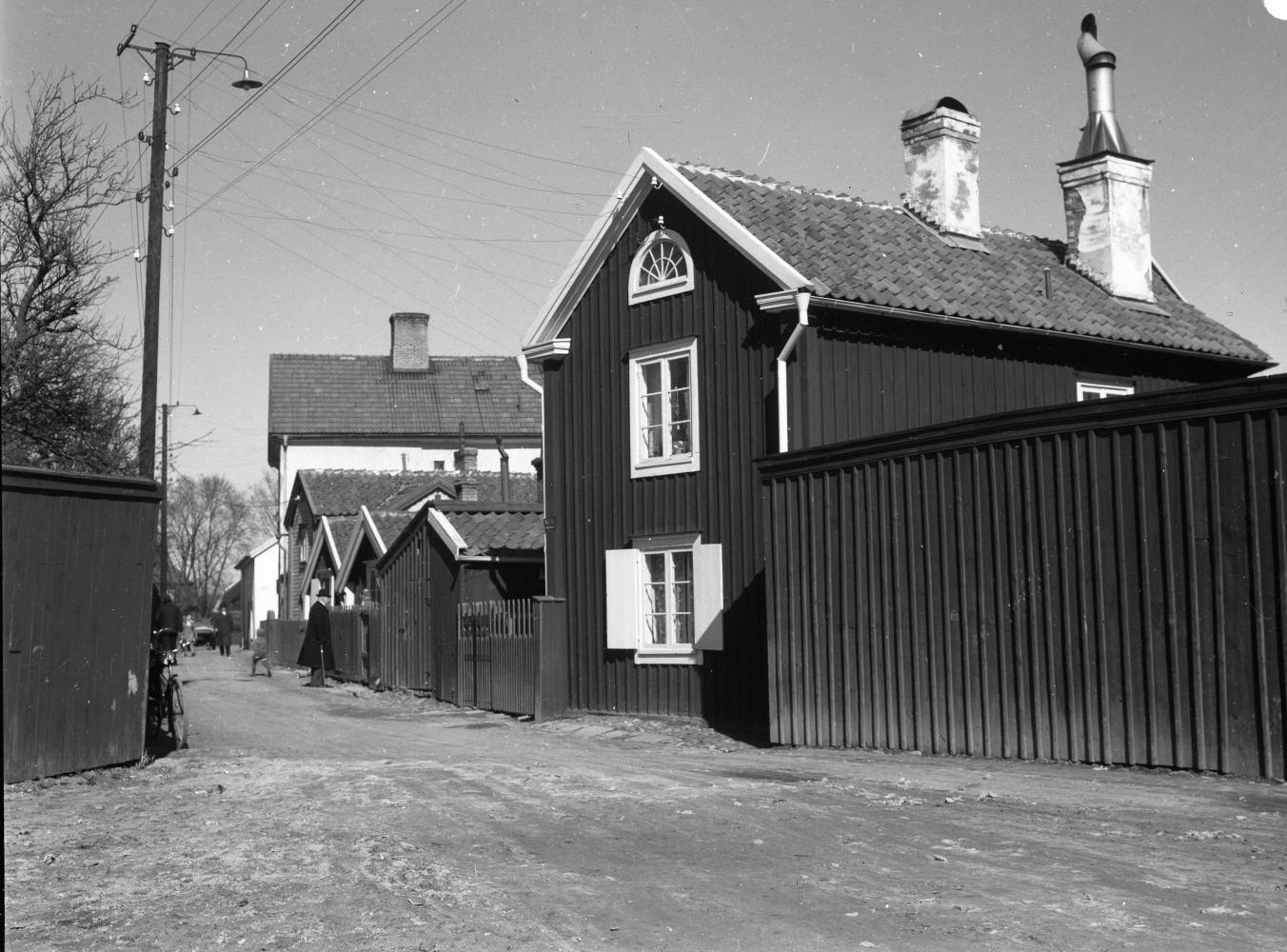 Västerlånggatan vid kv Björken mot norr, 1939