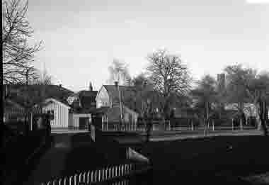 Molinsgatan från vägen till gamla kyrkogården 1939