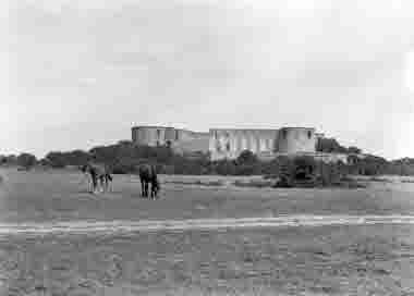 Borgholms slottsruin 22 juli 1942