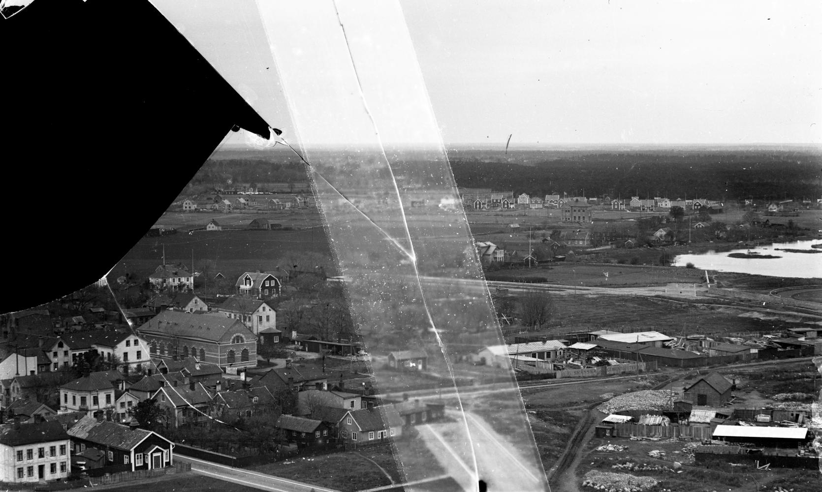 Fredriksskan och Malmen mot norr från vattentornet