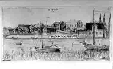 """Teckning Pataholm 1884 av """"OH"""""""