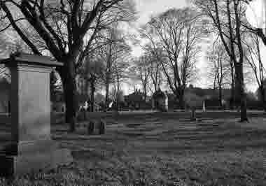 Gamla kyrkogården mot söder 1939