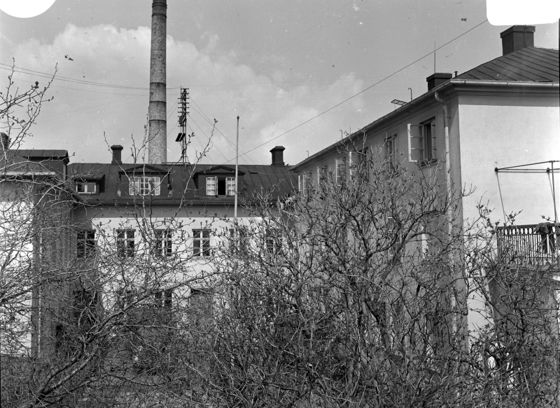 Lasarettet vid Slottsvägen. Från norr. omkr 1940