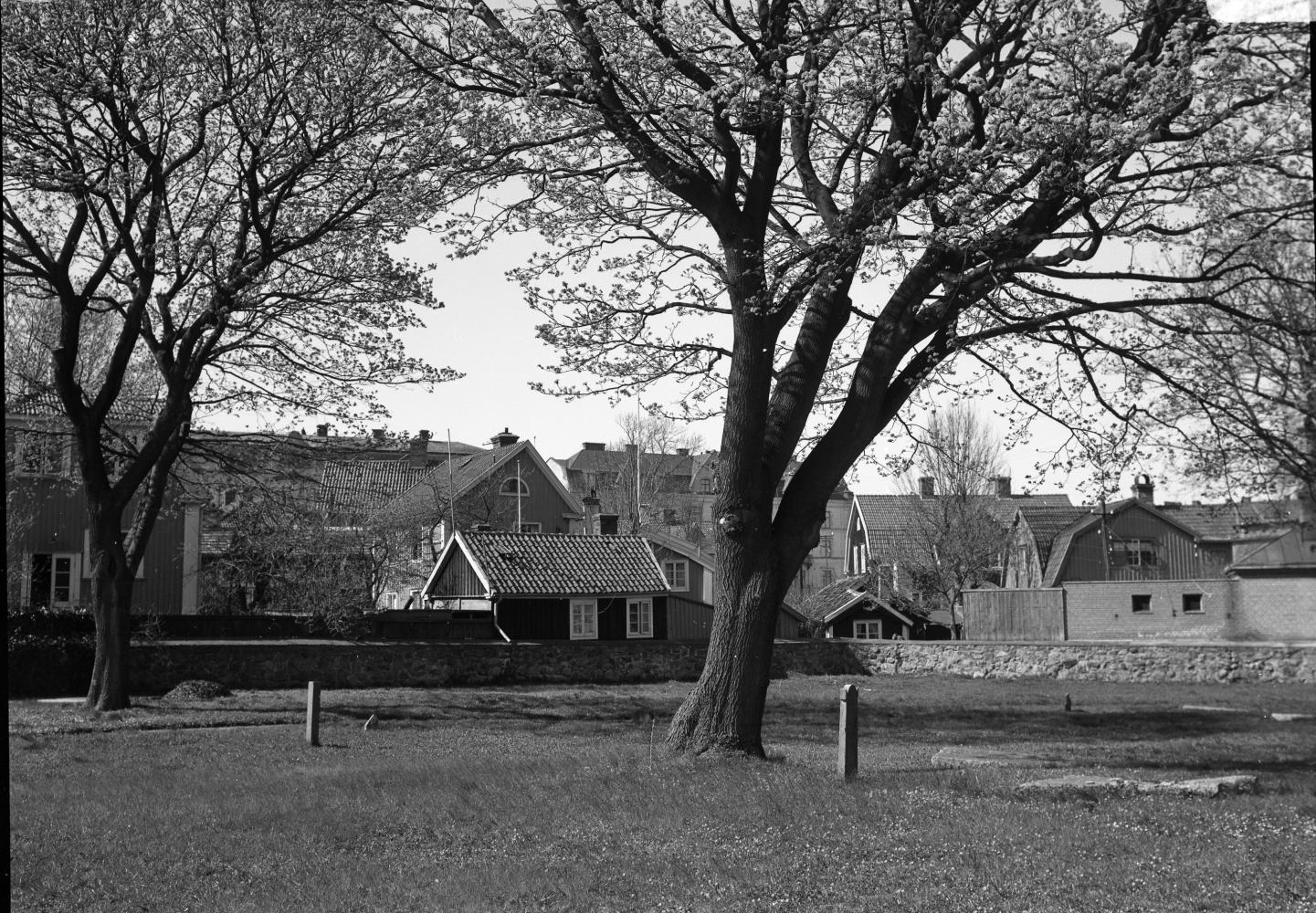 Gamla kyrkogården mot väster 1939