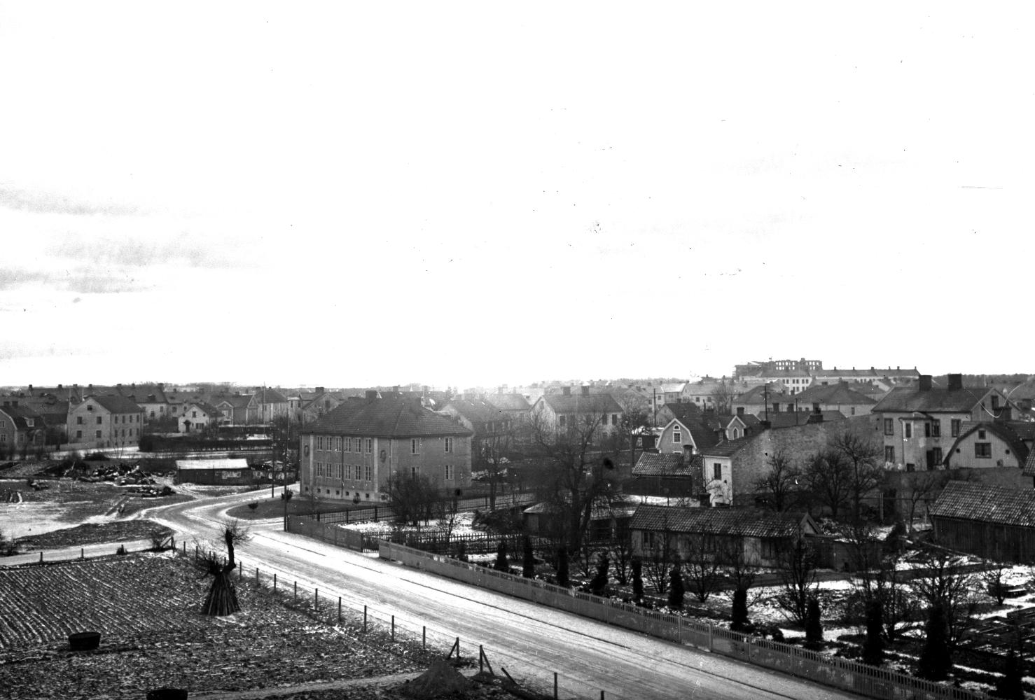 Gamla stan, Frejagatan, Schuwertska trädgården 1935