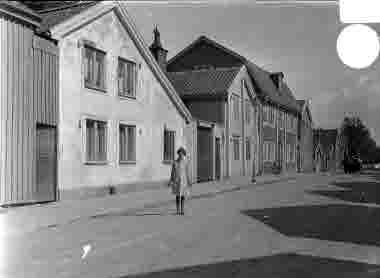 Norra Långgatan vid Kattrumpan omkr 1920