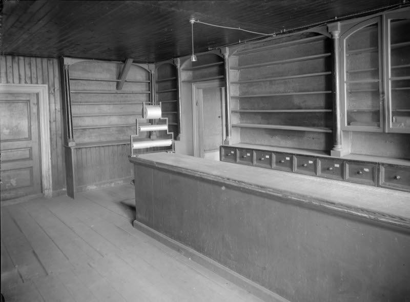 Läderhandlare Ernst Alfrid Olssons butiksinredning