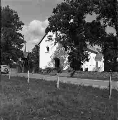Halltorps kyrka exteriör 1950