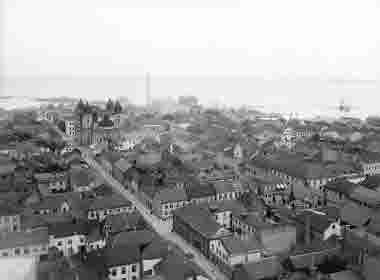 Vy från vattentornet över Kvarnholmen