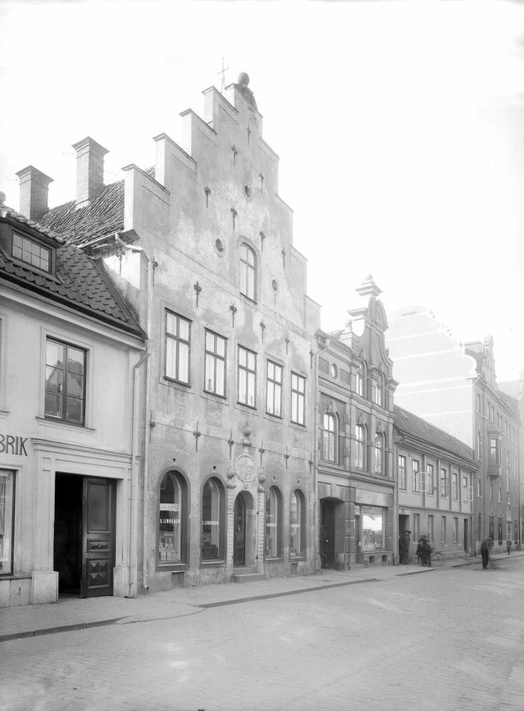 Parti Storgatan nr 20 1600-talshus. Castenska gården, 1667