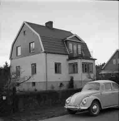 Hus vid Solvägen 30/5 1970