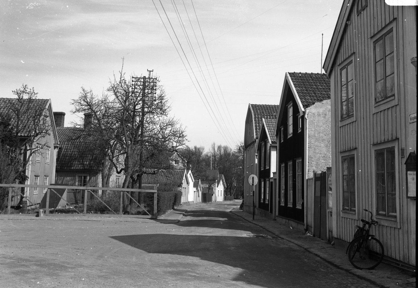 Molinsgatan från Västerlånggatan 1939