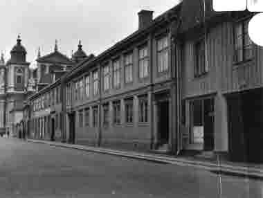 Norra Långgatan från Kaggensgatan mot öster. Foto omkr 1930