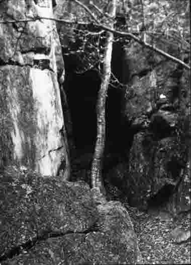 Blå Jungfrun, Heidenstams grotta 1946