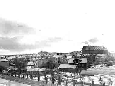 Gamla stan, Schuwertska växthusen, Vasaskolan 1935