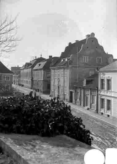 Lilla torget från Kavaljeren med Dahmska huset och Domprostgården