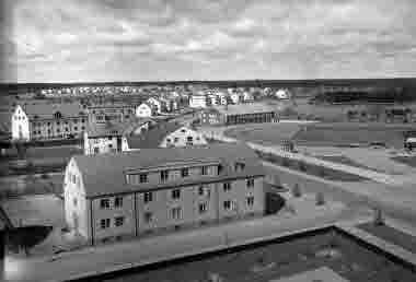 Utsikt från Läroverket norrut över Fredriksskans och Norrgårdsgärdet
