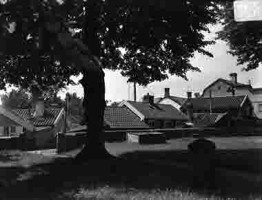 Gamla kyrkogården, grindarna och Lilla Torget 1937